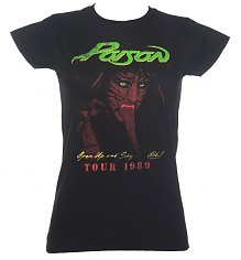 Ladies Black Poison 1989 Tour T-Shirt [View details]