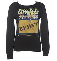 Ladies Black Proud To Be Different Raggy Dolls Reject Bin Sweater