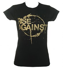 Ladies Black Rise Against Cycle Print T-Shirt [View details]