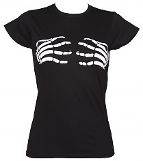 Ladies Black Skeleton Hands Misfits T-Shirt [View details]