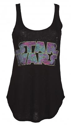 Ladies Black Star Wars Cosmic Logo Vest from Junk Food