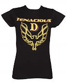 Ladies Black Tenacious D Fire Bird T-Shirt