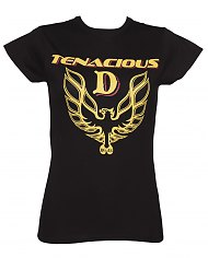 Ladies Black Tenacious D Fire Bird T-Shirt [View details]