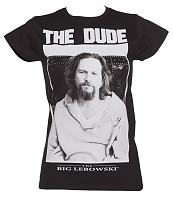 Ladies Black The Dude Big Lebowski T-Shirt