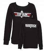 Ladies Black Top Gun Maverick Pullover