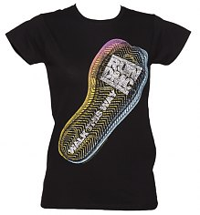 Ladies Black Walk This Way Footprint Run DMC T-Shirt [View details]