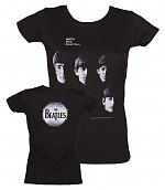 Ladies Black With The Beatles Front And Back Print T-Shirt