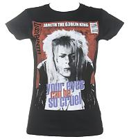 Ladies Black Your Eyes Can Be So Cruel Bowie Labyrinth T-Shirt