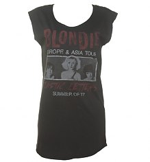 Ladies Blondie Plastic Letters Tour Tunic T-Shirt from Junk Food [View details]