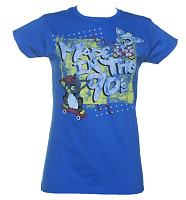 Ladies Blue Furby Made In The 90's T-Shirt