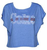 Ladies Blue Marl Coke Oversized T-Shirt from Junk Food
