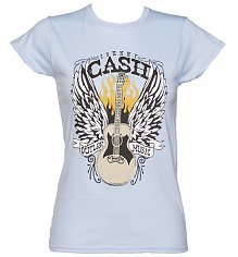 Ladies Blue Outlaw Music Johnny Cash T-Shirt [View details]