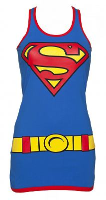 Ladies Blue Supergirl Vest Dress