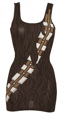 Ladies Brown Chewbacca Star Wars Tank Dress