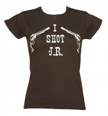 Ladies Brown I Shot J. R Dallas T-Shirt