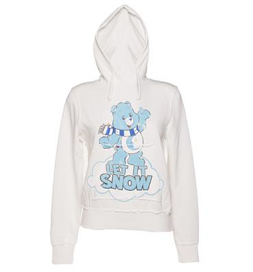 Ladies Care Bears Let It Snow Hoodie