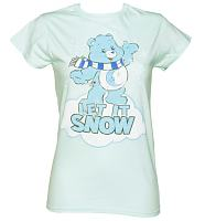 Ladies Care Bears Let It Snow T-Shirt