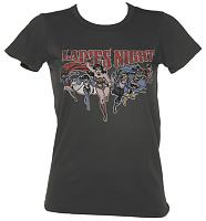 Ladies Charcoal Wash DC Comics Ladies Night Vintage T-Shirt from Junk Food