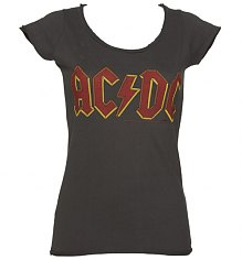 Ladies Charcoal AC/DC Logo T-Shirt from Amplified Vintage [View details]