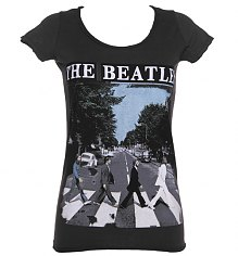 Ladies Charcoal Beatles Abbey Road T-Shirt from Amplified Vintage [View details]