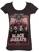 Ladies Charcoal Black Sabbath T-Shirt from Amplified Vintage