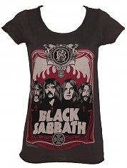 Ladies Charcoal Black Sabbath T-Shirt from Amplified Vintage [View details]