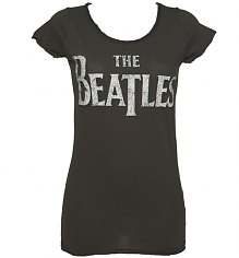 Ladies Charcoal Classic Beatles Logo T-Shirt from Amplified Vintage [View details]