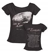 Ladies Charcoal Dazed And Confused US Tour 1977 Led Zeppelin T-Shirt from Amplified Vintage