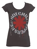 Ladies Charcoal Dripping Red Hot Chili Peppers T-Shirt from Amplified Vintage