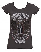 Ladies Charcoal Eagle Forever Ramones T-Shirt from Amplified Vintage