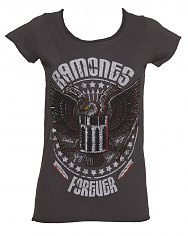 Ladies Charcoal Eagle Forever Ramones T-Shirt from Amplified Vintage [View details]