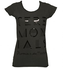 Ladies Charcoal Florence And The Machine Foil T-Shirt from Amplified Vintage [View details]