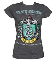 Ladies Charcoal Harry Potter Slytherin Team Quidditch T-Shirt