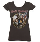 Ladies Charcoal Iron Maiden Trooper T-Shirt from Amplified Vintage