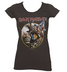 Ladies Charcoal Iron Maiden Trooper T-Shirt from Amplified Vintage [View details]