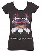 Ladies Charcoal Master Of Puppets Metallica T-Shirt from Amplified Vintage