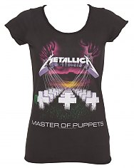 Ladies Charcoal Master Of Puppets Metallica T-Shirt from Amplified Vintage [View details]