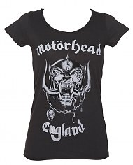 Ladies Charcoal Motorhead England T-Shirt from Amplified [View details]