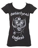 Ladies Charcoal Motorhead England T-Shirt from Amplified Vintage
