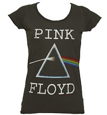Ladies Charcoal Pink Floyd Dark Side Of The Moon T-Shirt from Amplified Vintage [View details]