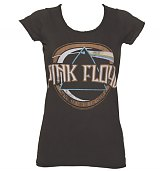Ladies Charcoal Pink Floyd On The Run T-Shirt from Amplified Vintage