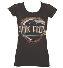 Ladies Charcoal Pink Floyd On The Run T-Shirt from Amplified Vintage [View details]