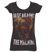 Ladies Charcoal Rage Against The Machine T-Shirt from Amplified Vintage