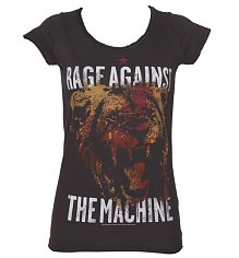 Ladies Charcoal Rage Against The Machine T-Shirt from Amplified Vintage [View details]