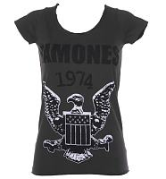 Ladies Charcoal Ramones 1974 T-Shirt from Amplified Vintage