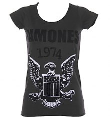 Ladies Charcoal Ramones 1974 T-Shirt from Amplified Vintage [View details]