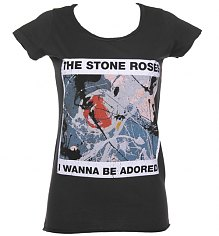 Ladies Stone Roses Wanna Be Adored Charcoal T-Shirt from Amplified Vintage [View details]