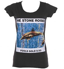 Ladies Charcoal Stone Roses Fools Gold T-Shirt from Amplified Vintage [View details]