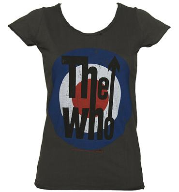 Ladies Charcoal The Who Target T-Shirt from Amplified Vintage
