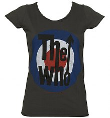 Ladies Charcoal The Who Target T-Shirt from Amplified Vintage [View details]